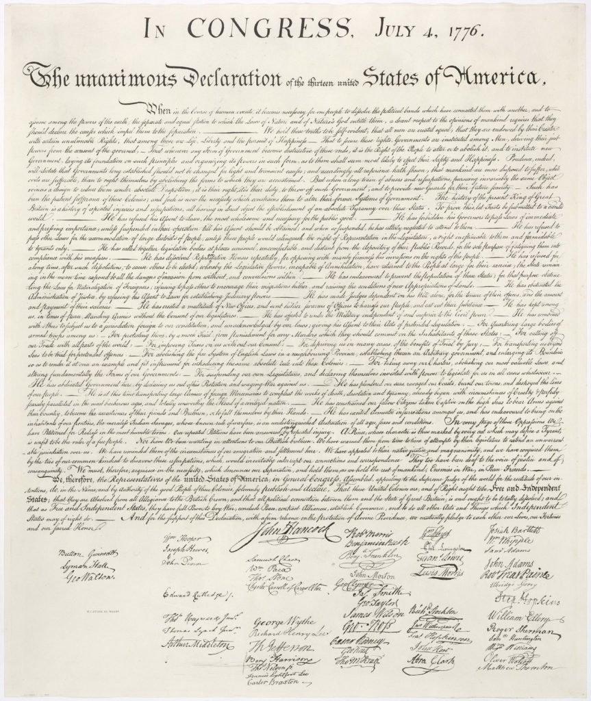 Important Declaration of Independence Quotes