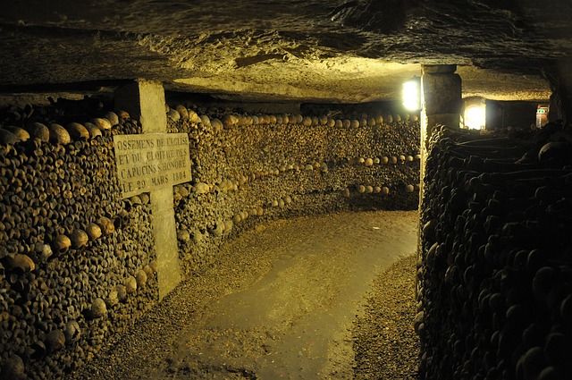 The Cask of Amontillado by Edgar Allan Poe takes place in catacombs