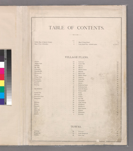 Table of contents examples
